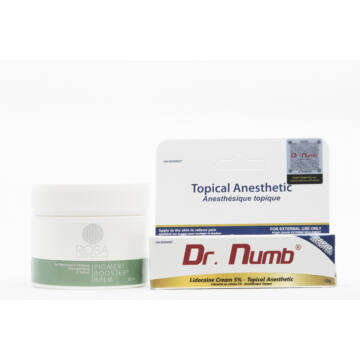 Dr. Numb white anesthetic cream - 10 gramm - Gift Pigment Booster Balm